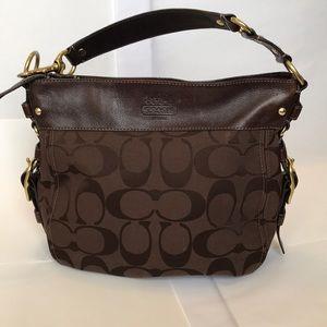 Coach zip top, hobo type bag